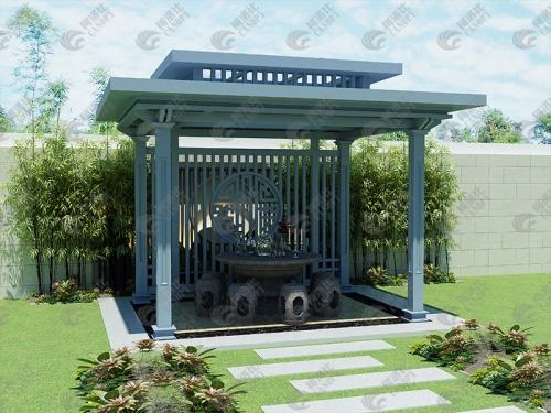 新中式凉亭图片