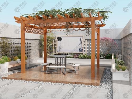 中式葡萄架