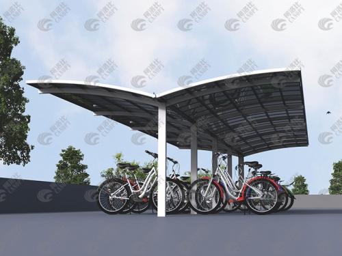 Y型自行车棚